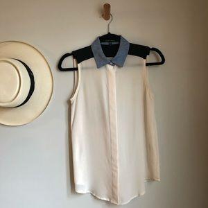 Judith & Charles Sleeveless Silk Top